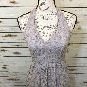 Cream Lace Halter David's Bridal Dress